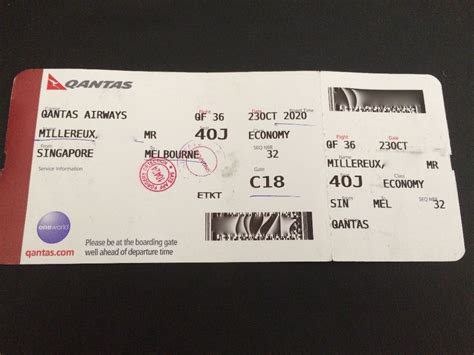 Review of Qantas flight from Singapore to Melbourne in Economy