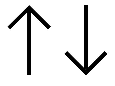 Up And Down Straight Arrows Comments - Upside Down Arrow