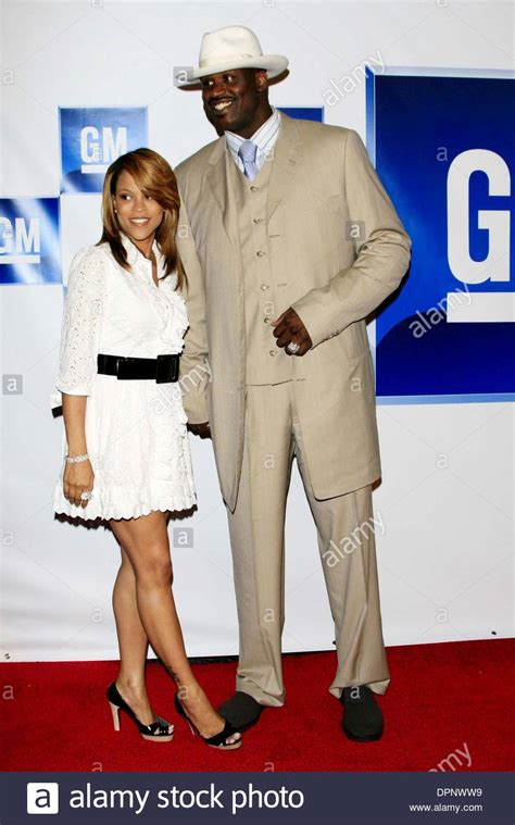 Shaquille Oneal Wife Shaunie Oneal Stockfotos & Shaquille