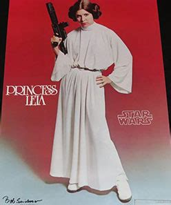 Princess Leia: Star Wars Autographed Poster Proof - The