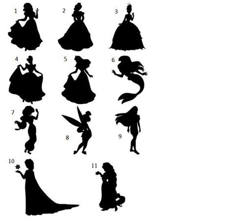 PRICE REDUCED Princess Silhouettes FREE by
