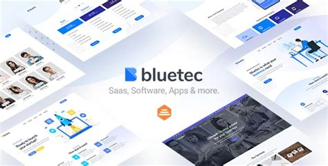 Bluetec - Saas, IT Software, Startup and Coworking Website