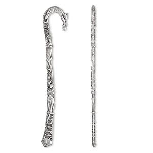 Bookmark, antiqued pewter (tin-based alloy), 5-1/2 inches
