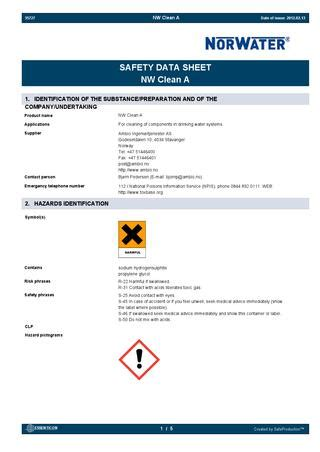 Norwater AS Safety Datasheets by Norwater AS - Issuu