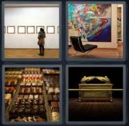 4 Pics 1 Word Answer for Museum, Art, Chocolate, Treasure