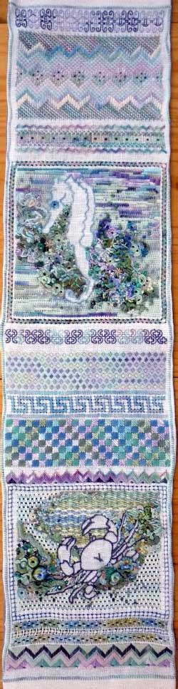 For the love of stitch band sampler section 5 - Pintangle