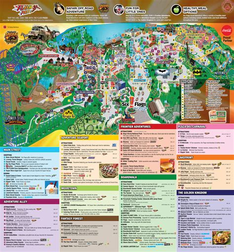 2014 Theme Park Map - The Park Today - Great Adventure