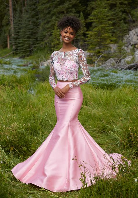 Two-Piece Prom Dress with Larissa Satin Skirt | Style