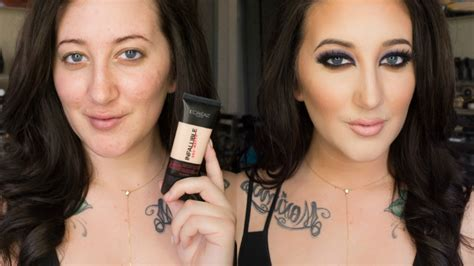 NEW L'Oreal Infallible Pro-Matte Foundation   24 Hour Demo