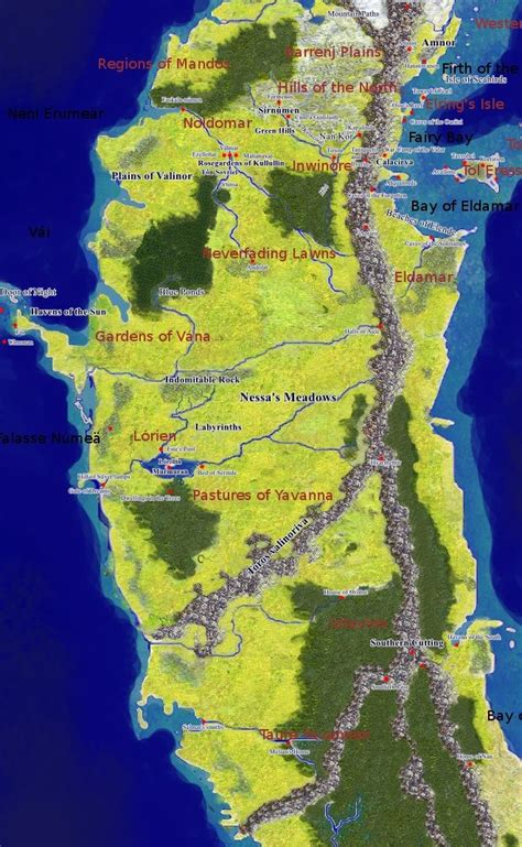 Image result for map of Valinor | Middle earth map