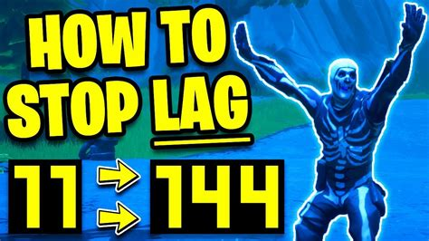 How To STOP LAG on FORTNITE! INCREASE FPS & PERFORMANCE