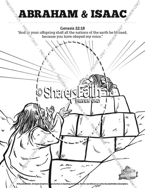 Abraham and Isaac Sunday School Coloring Pages For Kids