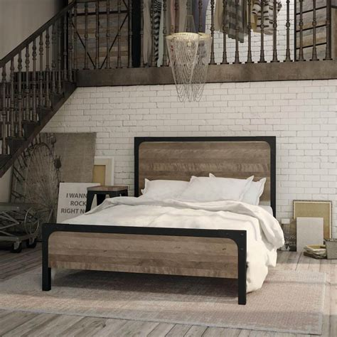 Cordoba Industrial Bed (customizable)   Vancouver Modern