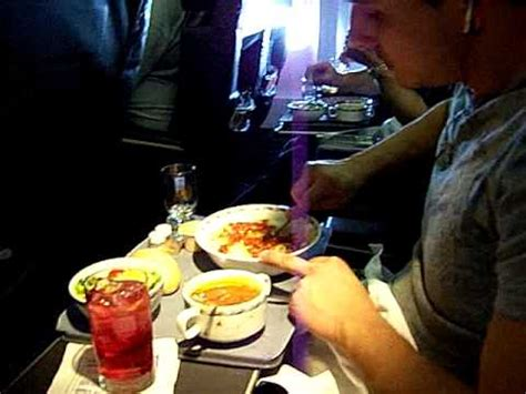 Continental Airlines Food Service in Domestic First Class