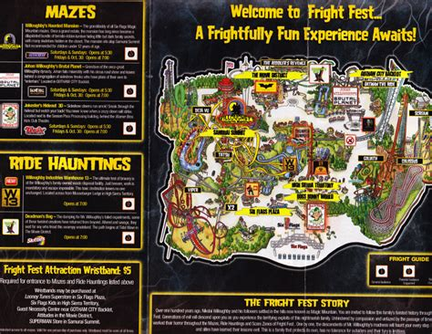 Six Flags Magic Mountain - 2008 Fright Fest Map