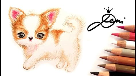 Chihuahua Welpe zeichnen lernen 🐶 How to Draw a Cute Puppy