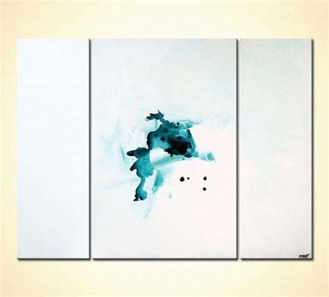 Painting for sale - triptych white modern painting minimal