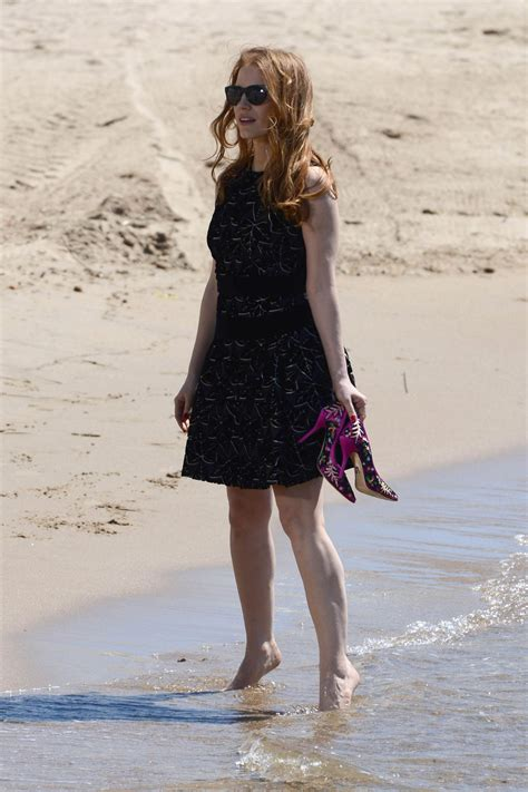Jessica Chastain on the Beach During the 67th
